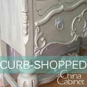 Curb-Shopped China Cabinet