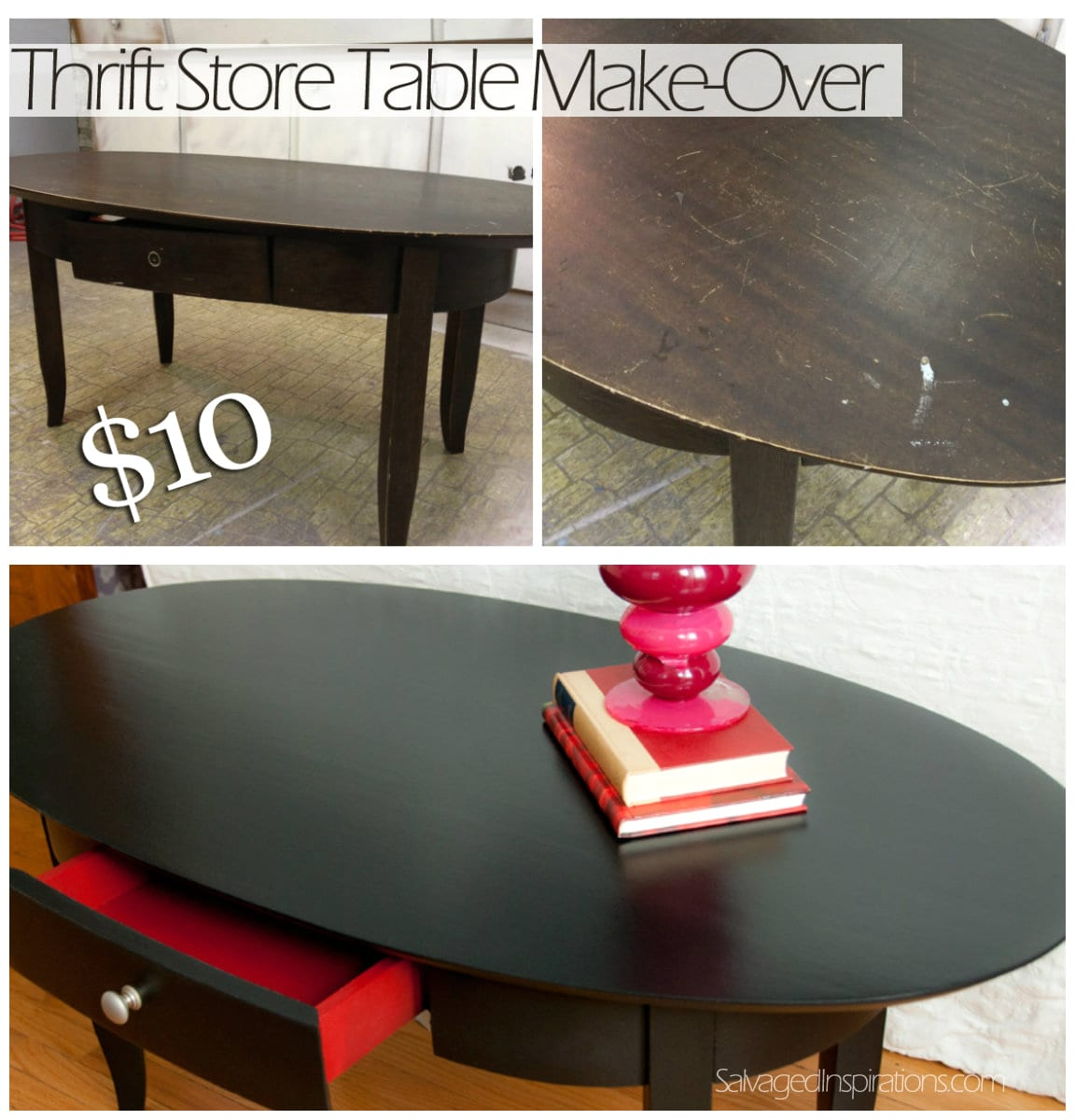 Thrift Store Table Before & After