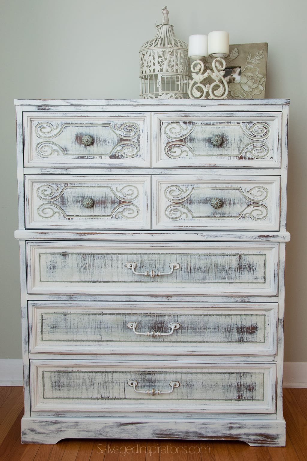 milk painted shabby chippy chic dresser salvaged inspirations. Black Bedroom Furniture Sets. Home Design Ideas