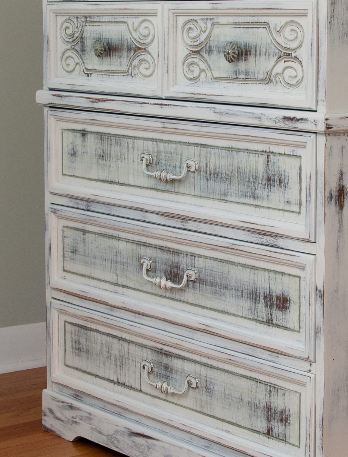 GFAntique Basil Milk Paint. Milk Painted Shabby Chippy Chic Dresser   Salvaged Inspirations