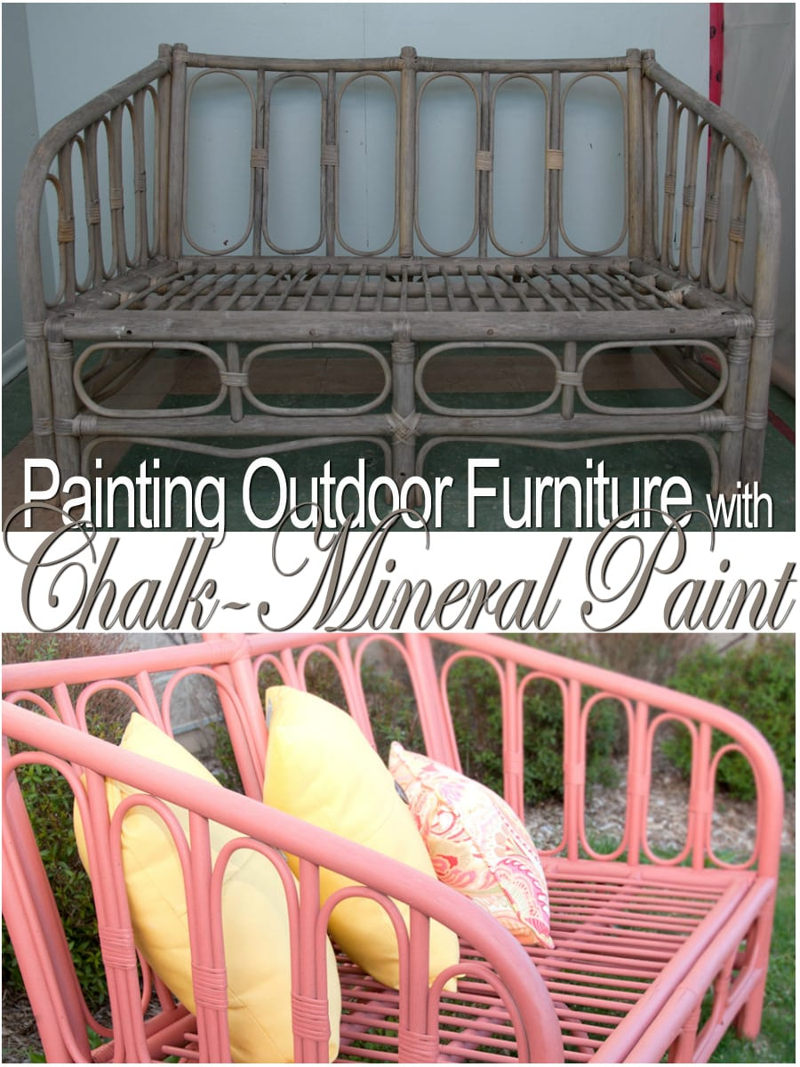 Painting Outdoor Furniture With ChalkMineral PaintMy Island