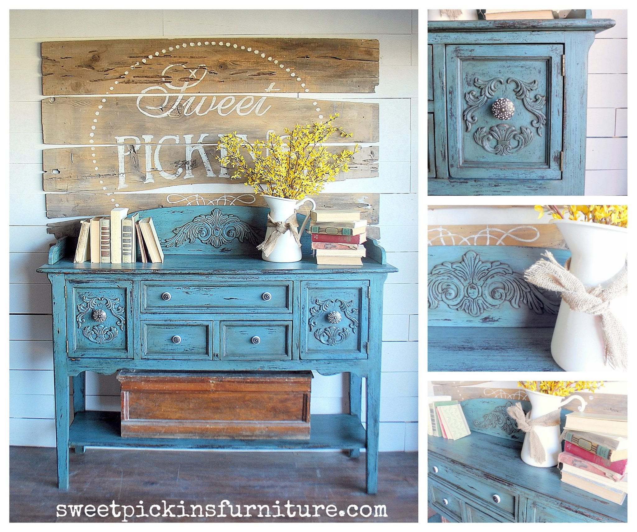 Sweet Pickins Milk Painted Hutch