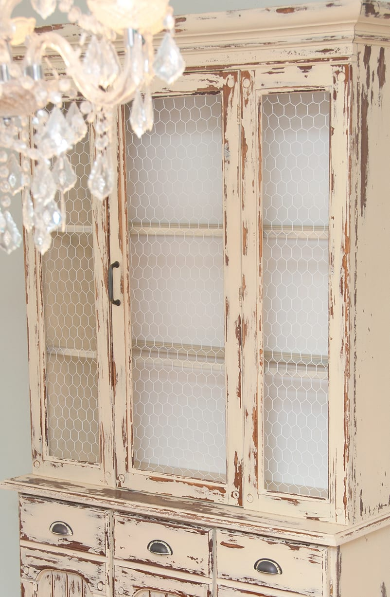 Milk Paint Laminate Furniture Country Farmhouse Hutch