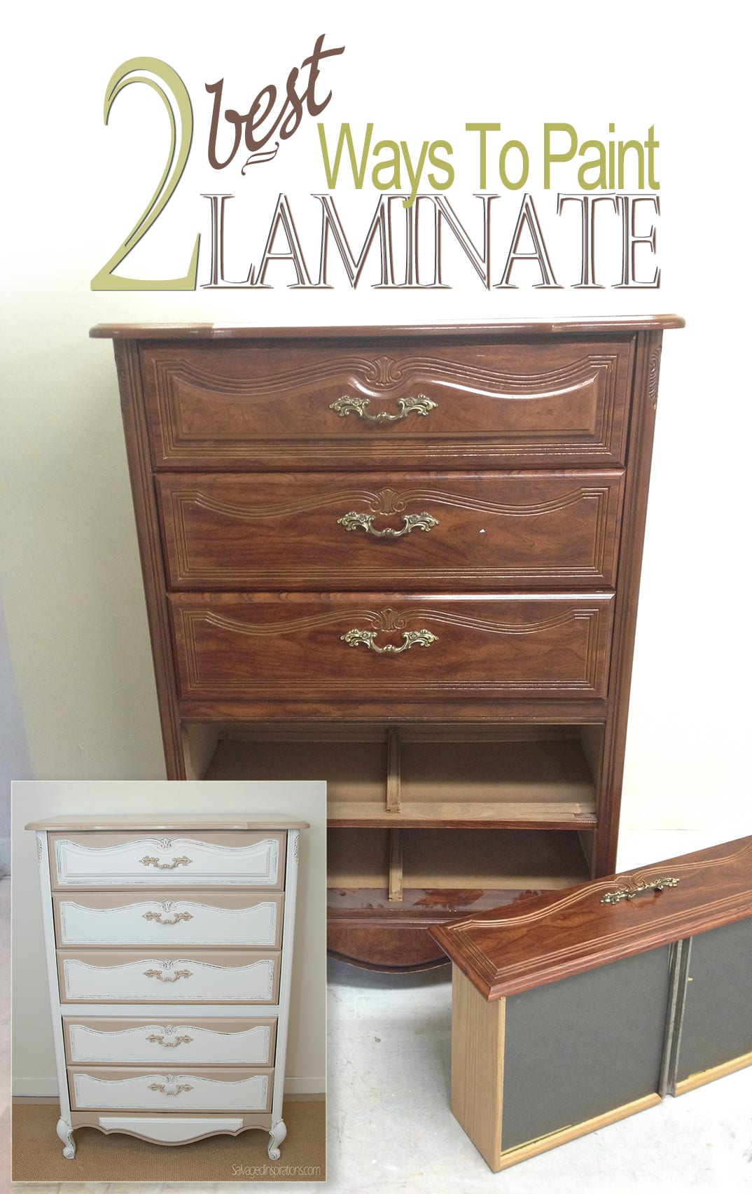 How To Paint Laminate   2 Ways. 2 Best Ways To Paint Laminate Furniture   Salvaged Inspirations