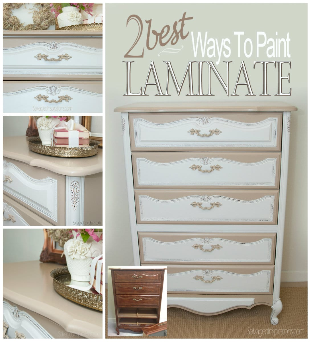 How To Paint Furniture 2 Best Ways To Paint Laminate Furniture  Salvaged Inspirations