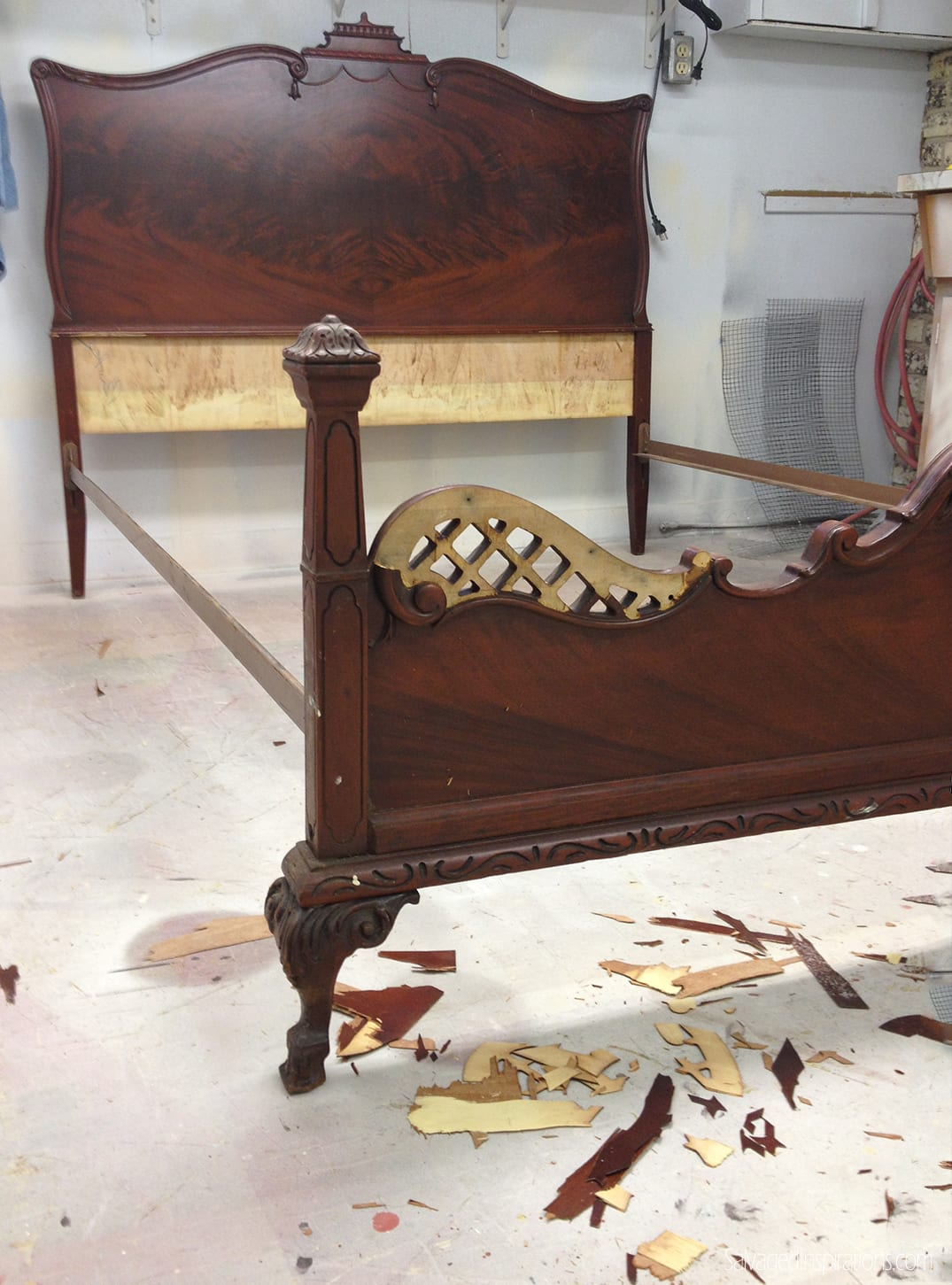 Mismatched-Victorian-Bed-Before