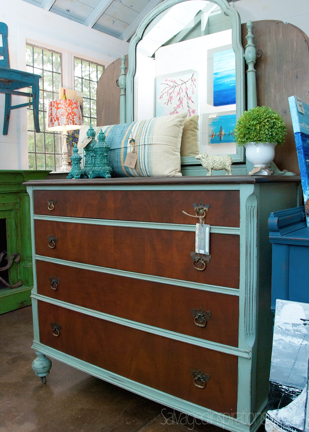 Pleasant-Pickins-Painted-and-Stained-Dresser