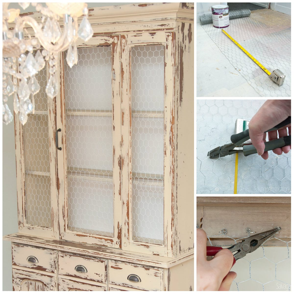Kitchen Cabinet With Chicken Wire Doors