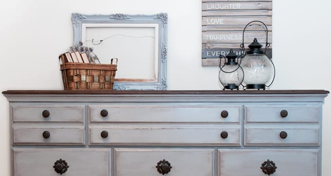 Shutter Gray French Country Dresser
