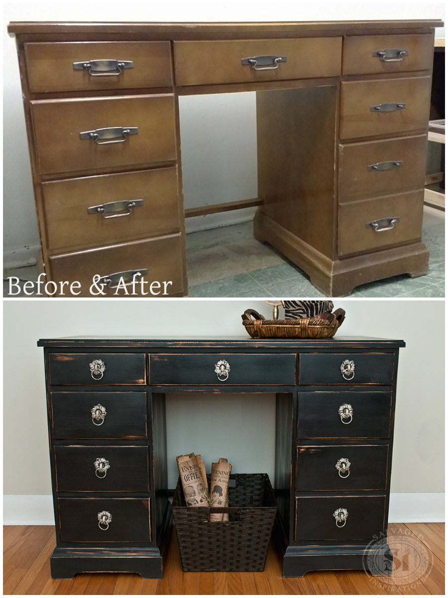 B&A Wax Distressed Desk