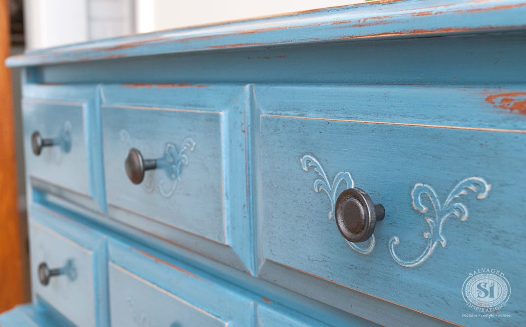 Raised Stencil: Time To 'Fancy' My Furniture