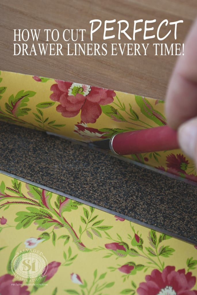 Cutting decorative drawer liners-1