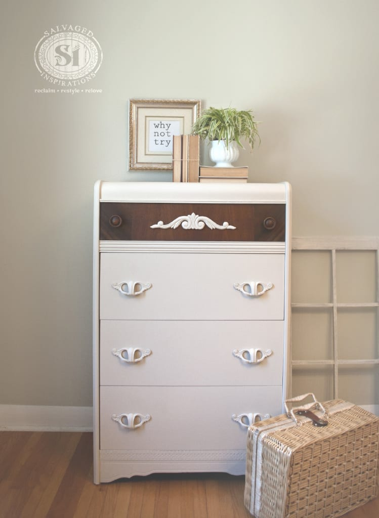 painted&stained waterfall dresser
