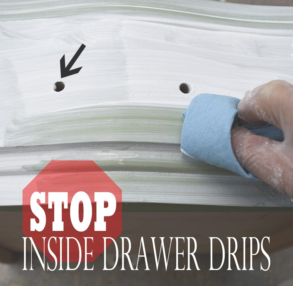 stop drawer drips