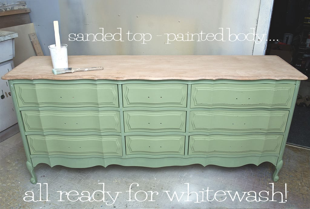 dresser ready for whitewash. How To Whitewash Wood Furniture   Salvaged Inspirations