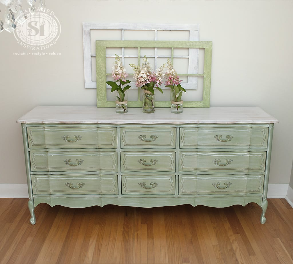 ... Salvaged French Provincial. White Washed French Prov Dresser. Whitewashed  Wood Dresser