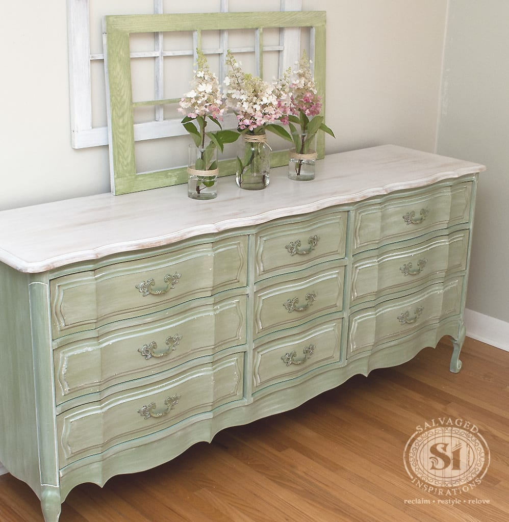whitewashed wood dresser