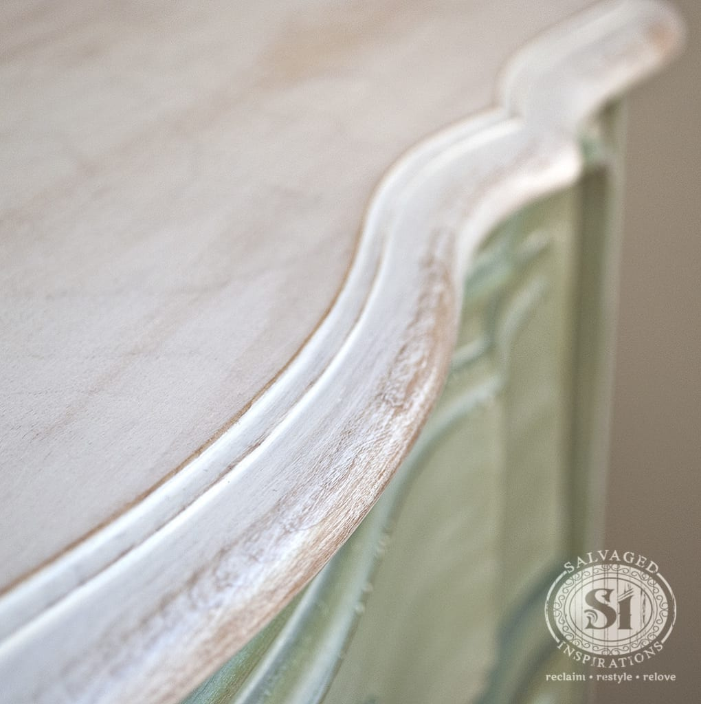 whitewashed wood dresser top