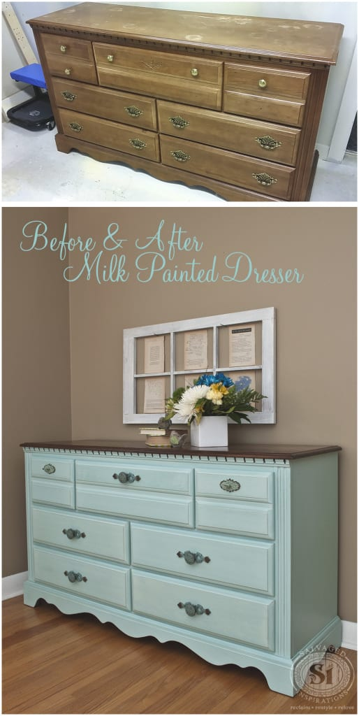 Before&After Milk Painted Dresser