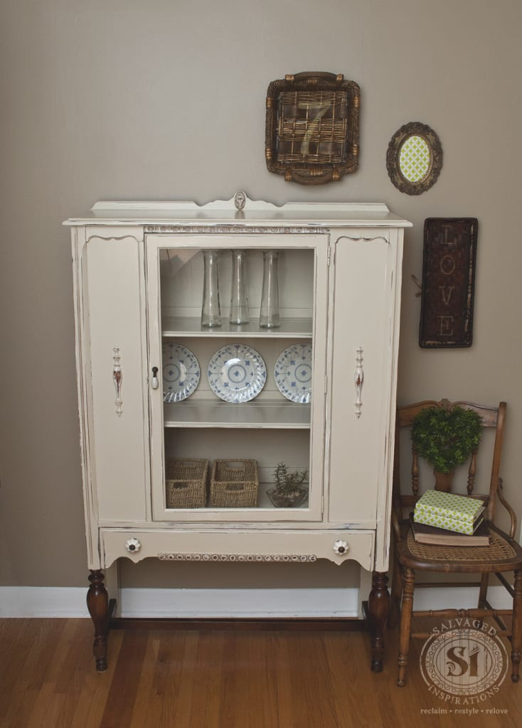 1930 S Quot Linen Quot China Cabinet Salvaged Inspirations