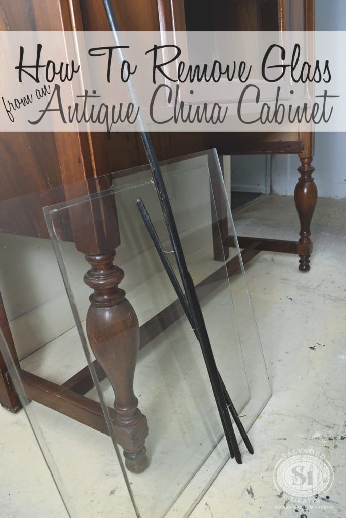 How To Remove Glass from Antique China Cabinets - Salvaged ...