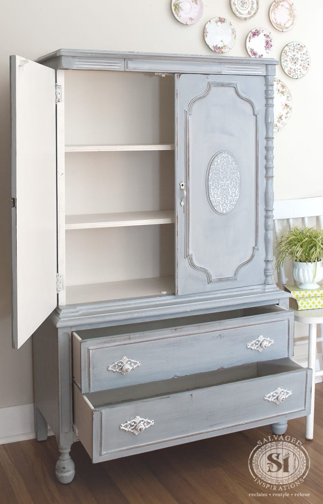 French Country Armoire Painted