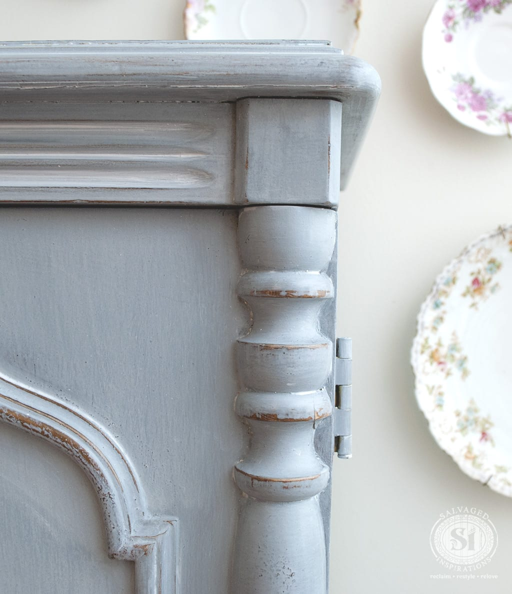Milk Painted French Country Armoire