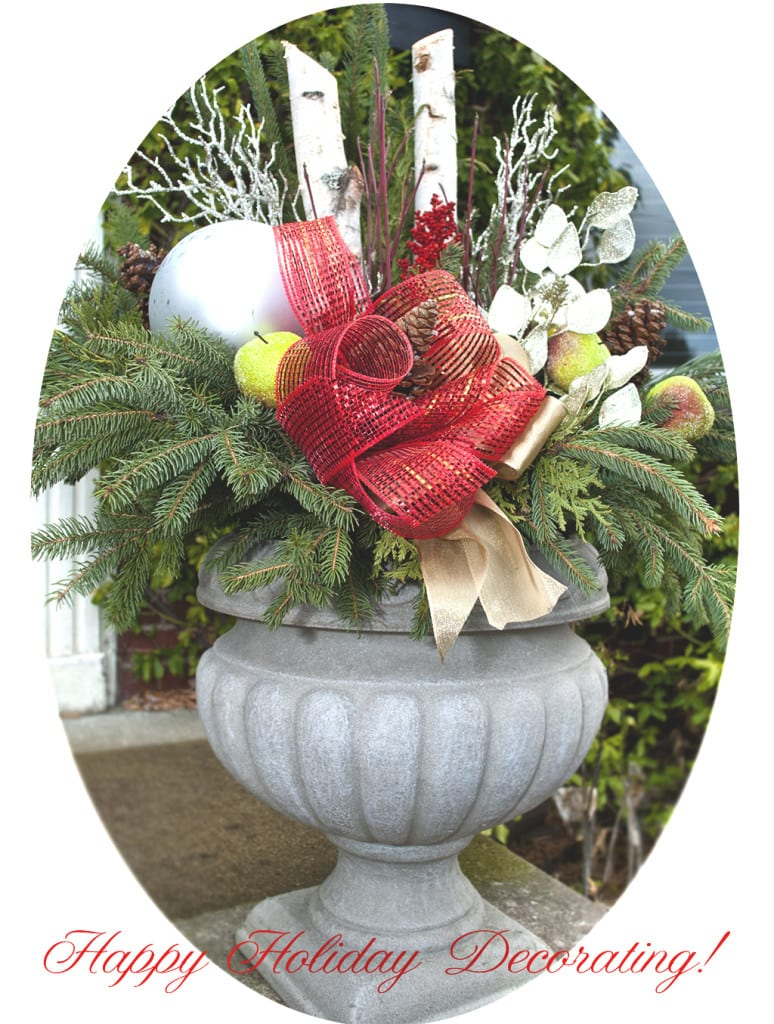 Repurposed Christmas Planter-Decor