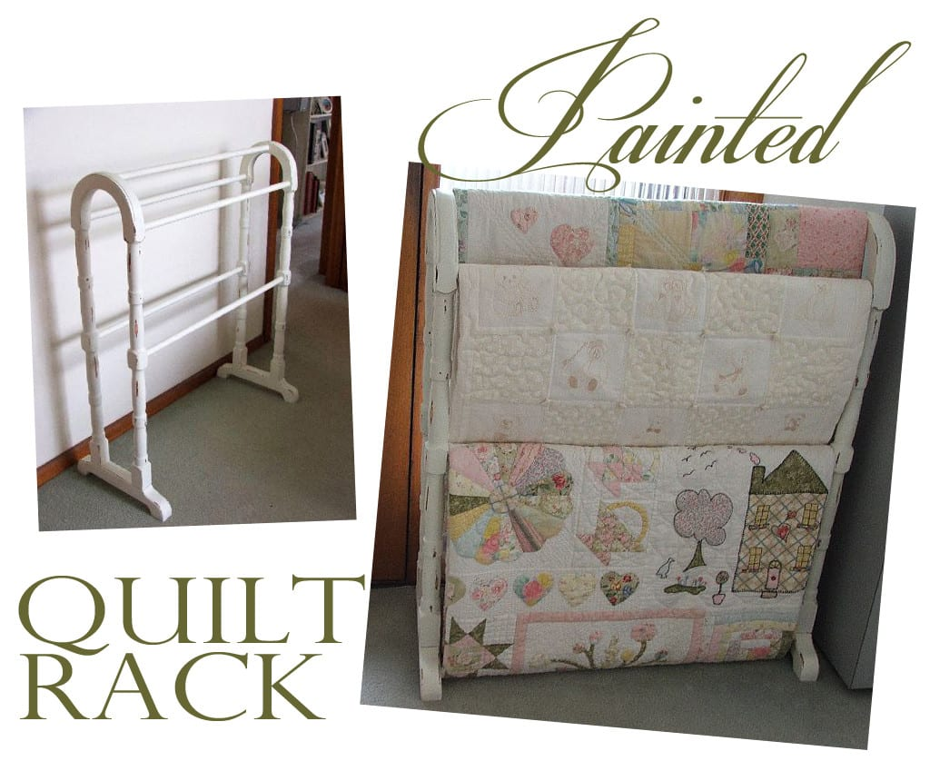 SI Redo-Painted Quilt Rack