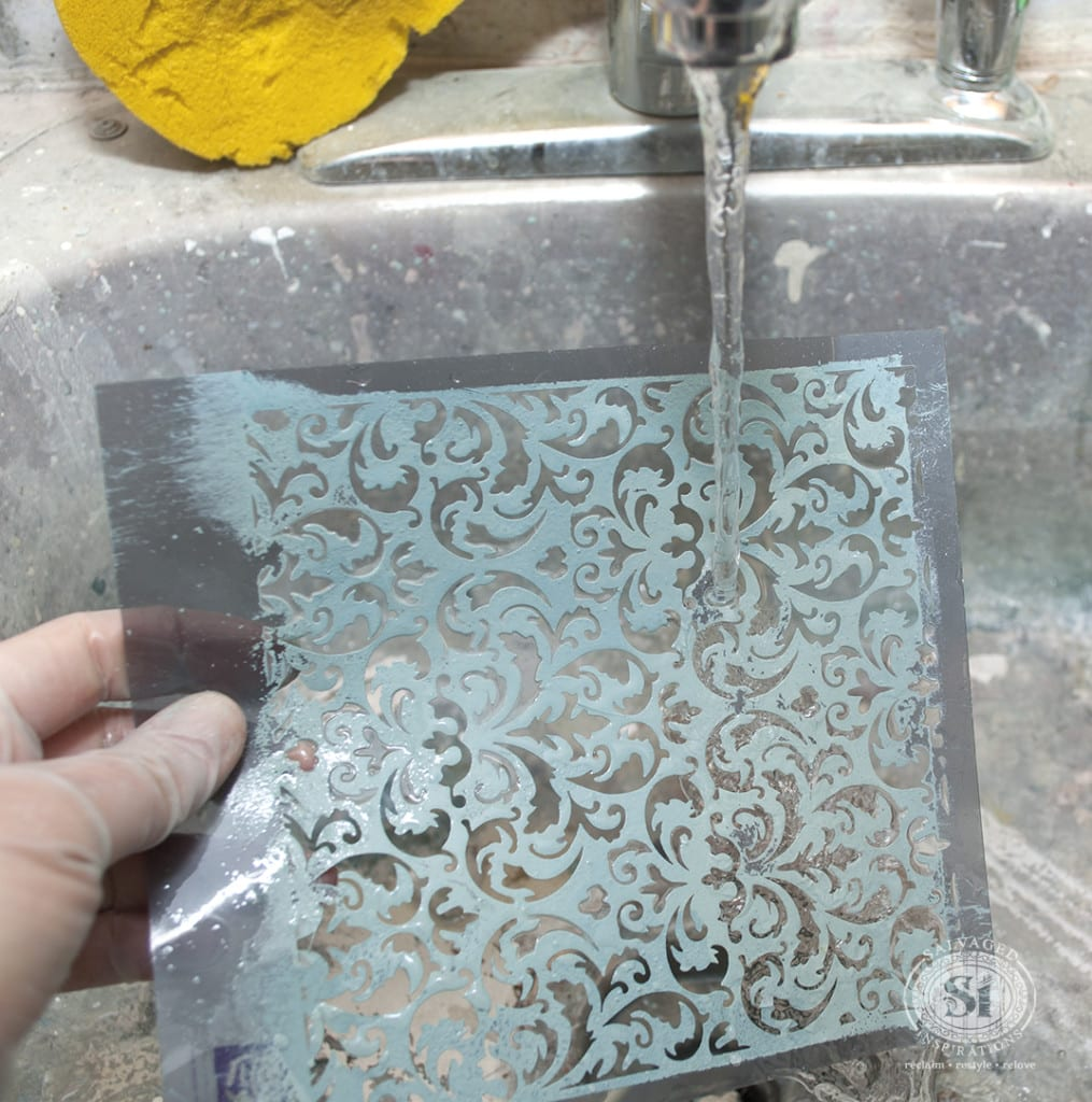 Cleaning Milk Paint off Stencil