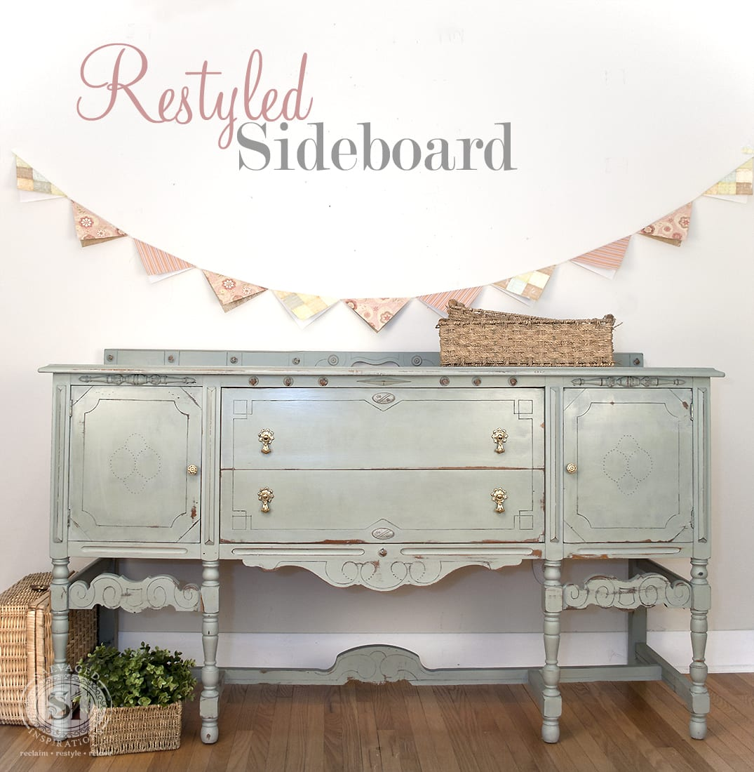 Restyled Sideboard from Salvaged Inspirations