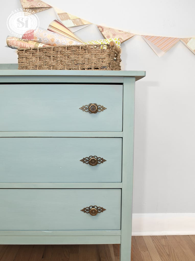 Salvaged Milk Painted Dresser