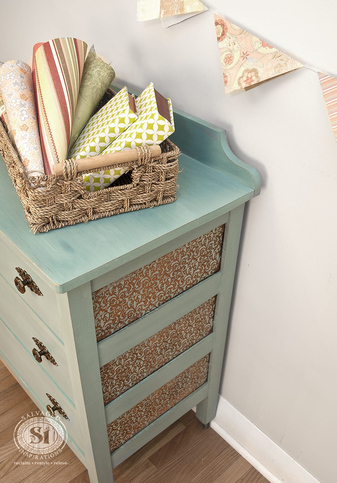 Peek-A-Boo Design: Stencil with Milk Paint!