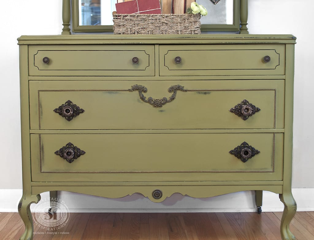 Antique Dresser - Painted in Holy Guacamole Dixie Belle