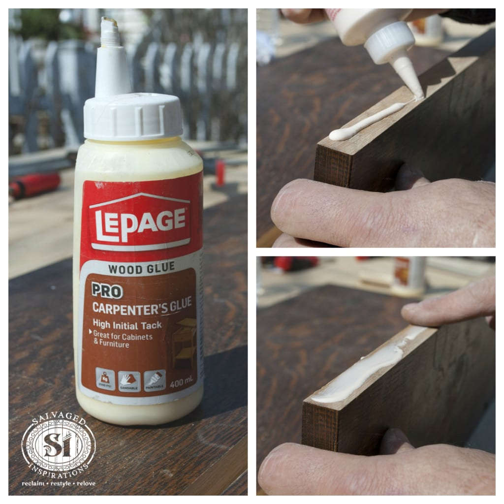 Applying Wood Glue to Board Edge