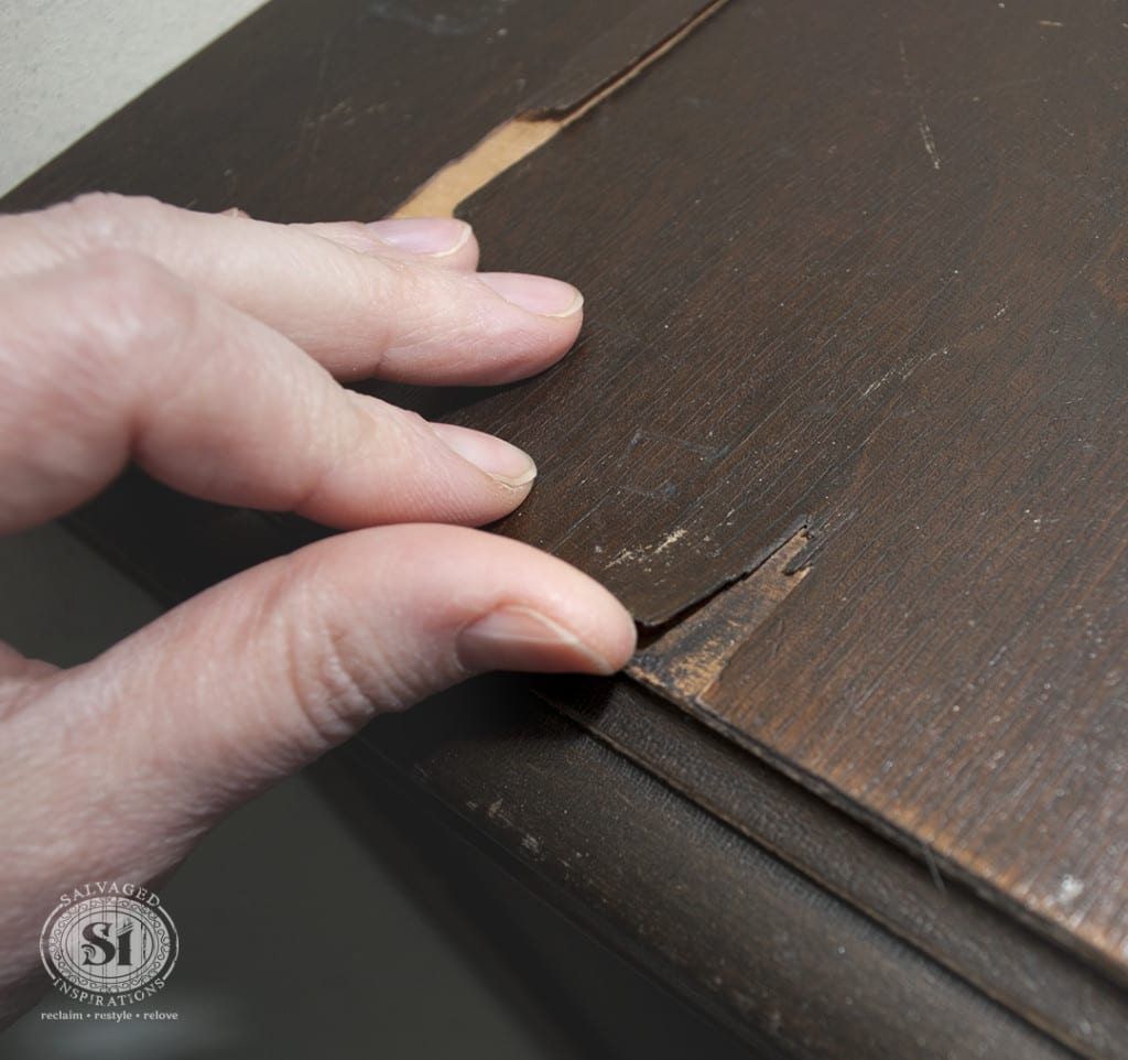 How To Fix Peeling Or Chipped Veneer Salvaged Inspirations