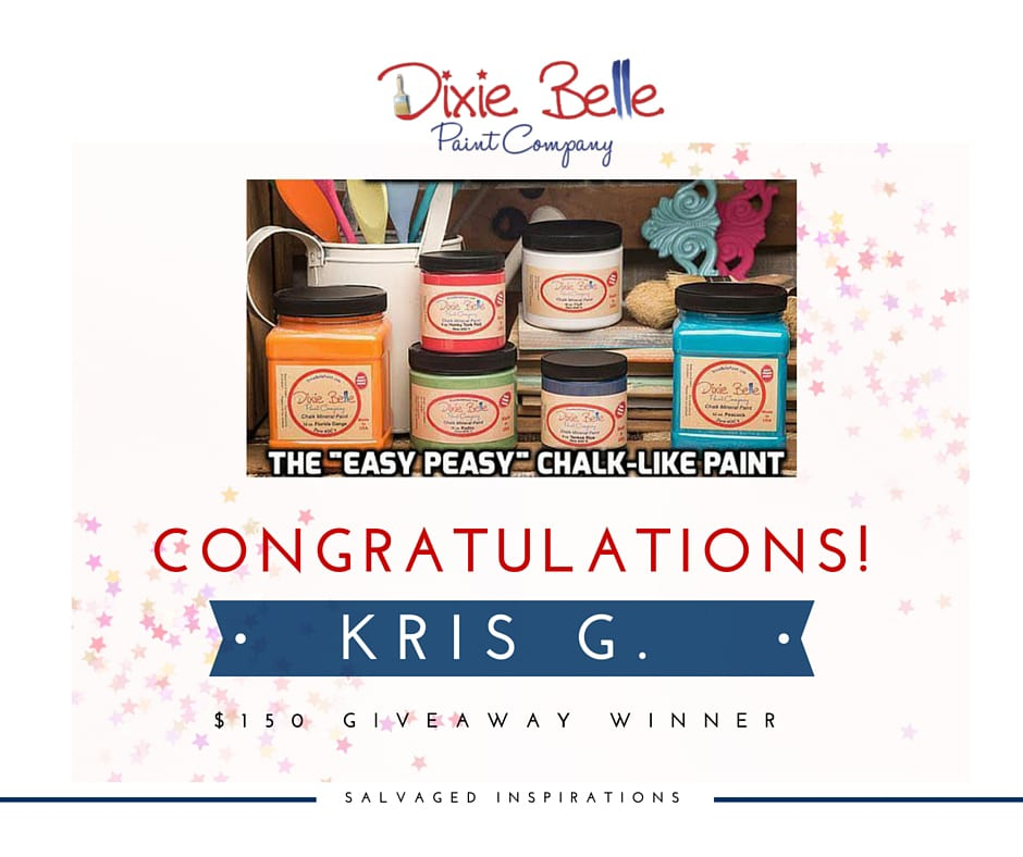 $150 Dixie Belle Giveaway Winner is….