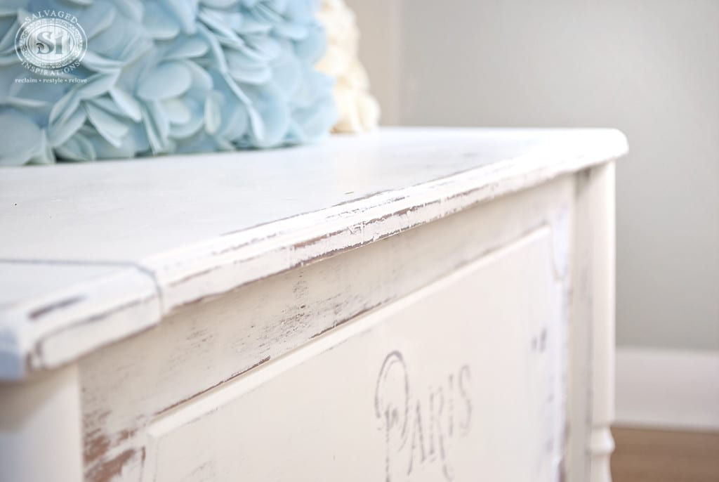 Distressed and French Typograph Chest-Bench