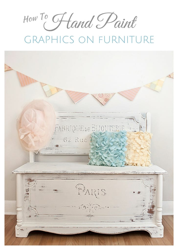 How To Hand Paint Graphics on Furniture