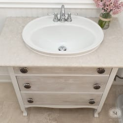 Old Dresser turned Vanity Sink