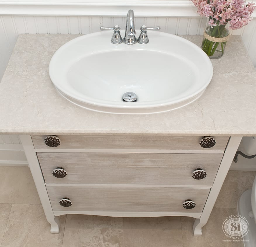 Furniture Stripping – Refreshed Bathroom Vanity Makeover