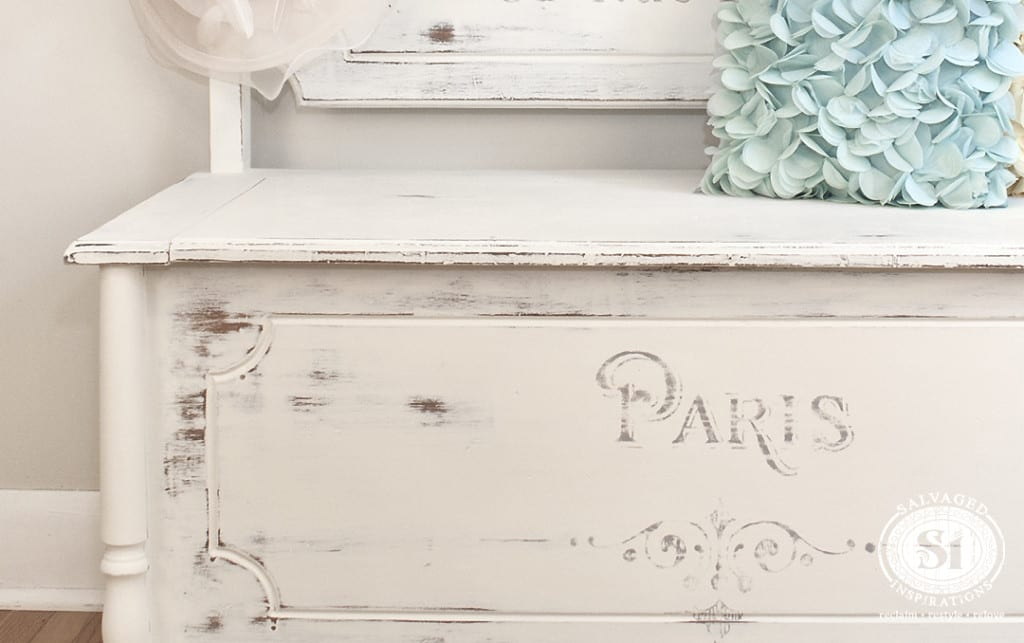 Paris Inspired Painted Bench-Chest
