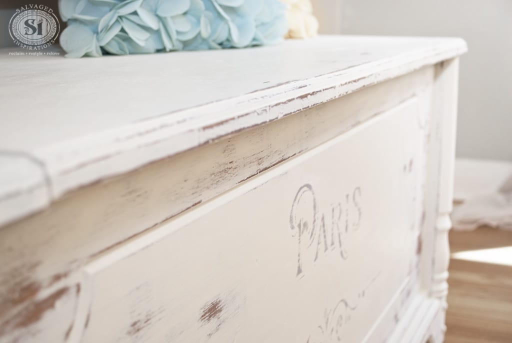 Paris Painted Bench-Chest