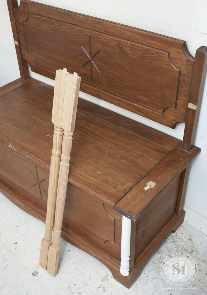Wood Spindles added as Furniture Detailing