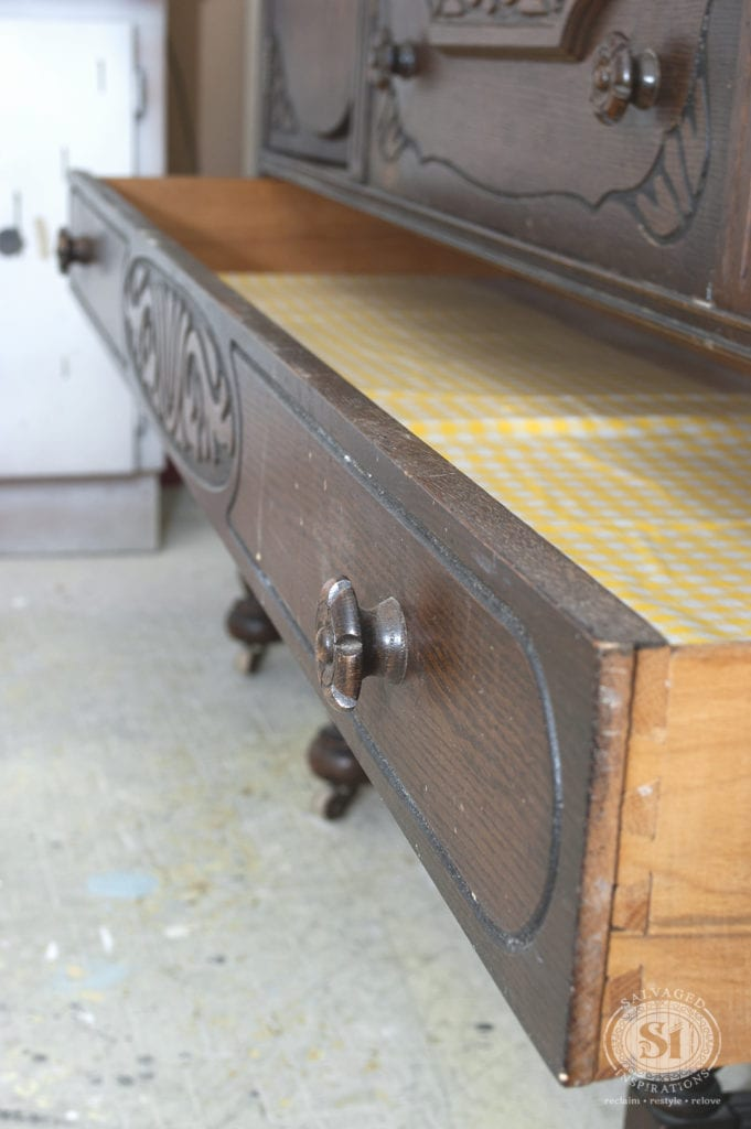 5'long drawer on Vintage Dresser