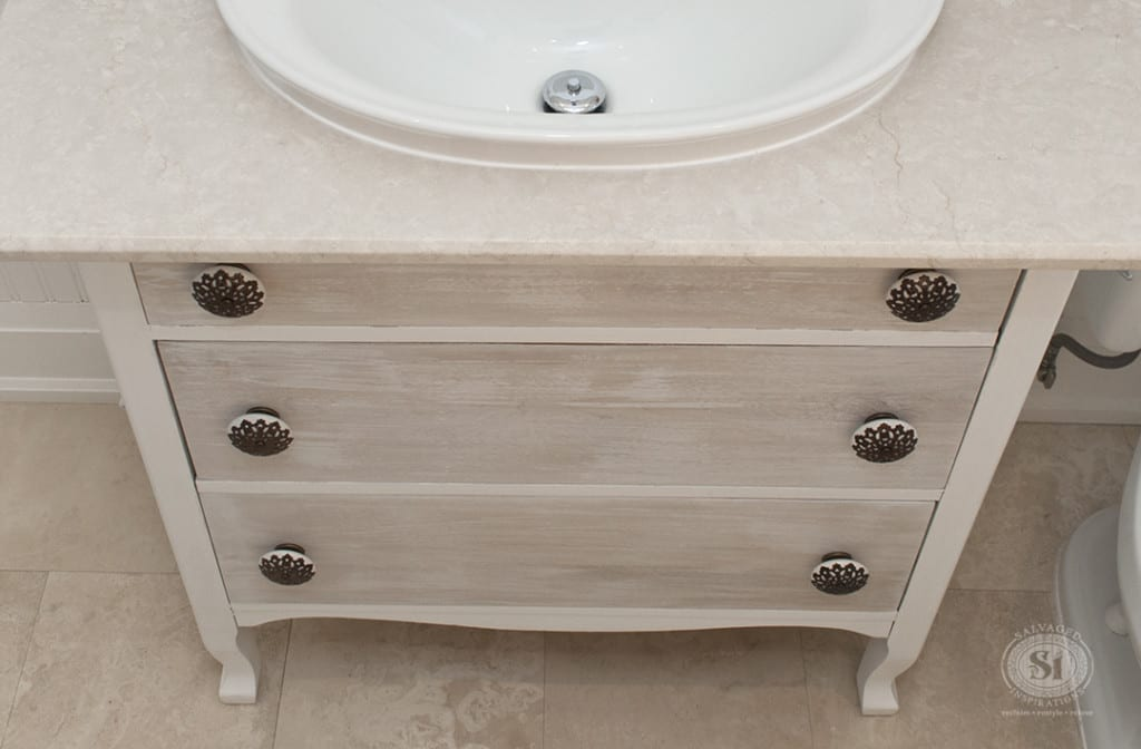 Refreshed Bathroom Dressser Vanity