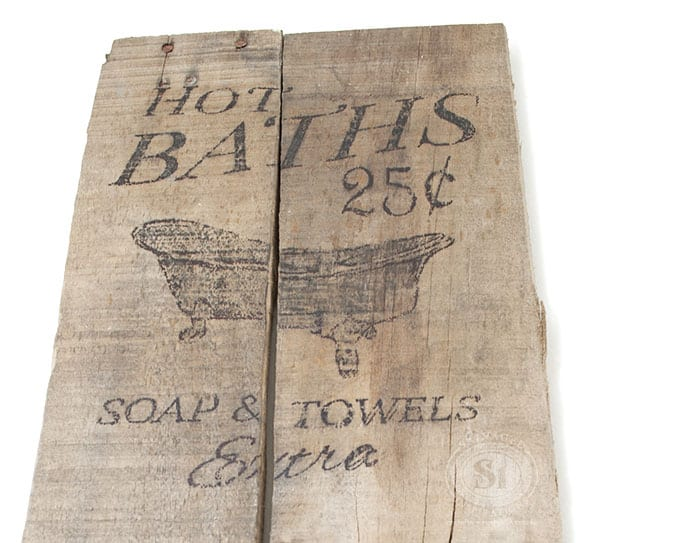 Bath Sign From Pallet Boards