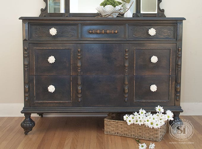 General Finishes Coastal Blue Dresser Body