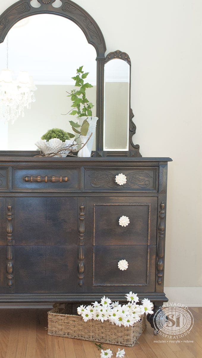 General Finishes Coastal Blue Painted Dresser