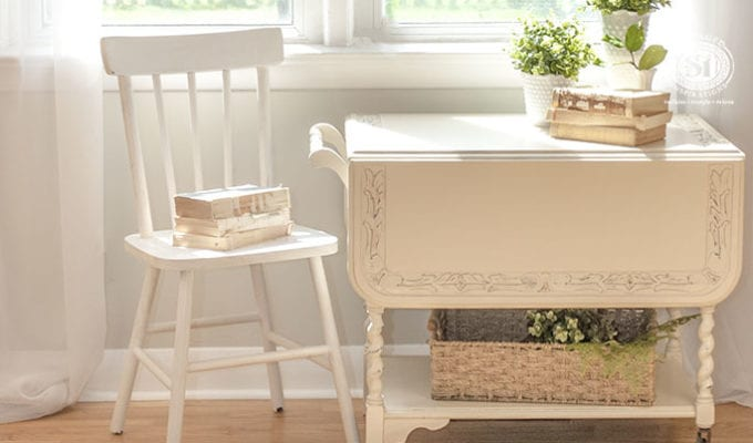 Linen Matched Tea Cart